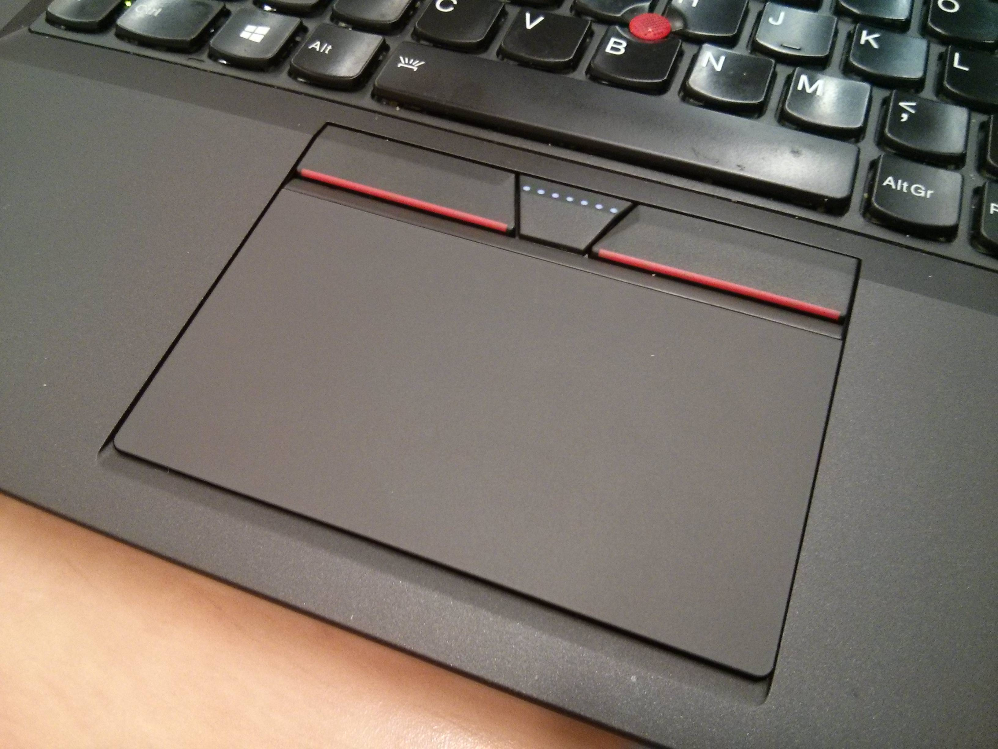 New Touchpad with Physical Buttons